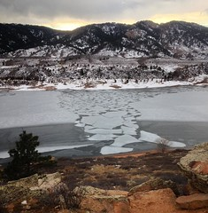 Marble #ice on #HorsetoothReservoir on Sunday. #FortCollins #Colorado (luciwest) Tags: instagramapp square squareformat iphoneography uploaded:by=instagram foursquare:venue=4dfcf645922e73158cbdcf68 snow horsetooth horsetoothreservoir fortcollins ftcollins colorado ice winter