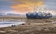 Abandoned ships (khalid almasoud) Tags: leica abandoned landscape rust flickr alone 5 ships estrellas kuwait dlux