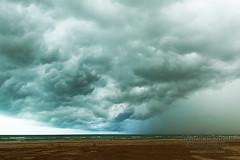 Incoming thunderstorm (stormgirl1960) Tags: ocean sky storm beach rain clouds darwin northernterritory buffalocreek