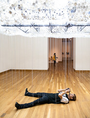 Interactive Art: Good Idea or a Nesting Ground for Photographers? (twinsfan7777) Tags: urban sculpture cloud art museum pull photographer chain artmuseum interactive interactiveart weisman artexhibit universityofminnesota
