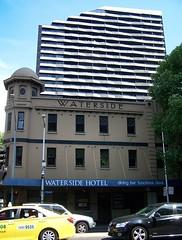 Waterside Hotel & Aura Apartments, Melbourne (Oriolus84) Tags: city building tower heritage water architecture facade hotel pub australia melbourne victoria highrise cbd watersidehotel servicedapartments auraapartments auraonflinders 534flindersstreet 7katherineplace 508flindersstreet