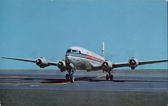 Japan Airlines Sleek DC-6B (SwellMap) Tags: architecture plane vintage advertising design pc airport 60s fifties aviation postcard jet suburbia style kitsch retro nostalgia chrome americana 50s roadside googie populuxe sixties babyboomer consumer coldwar midcentury spaceage jetset jetage atomicage
