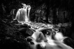 DSC_7632 B&W (TDG-77) Tags: water landscape countryside waterfall nikon slow candy outdoor falls cotton shutter d750 effect f3545g 1835mm lumsdale