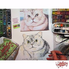 Ich finde es immer sehr bewegend... (wandklex Ingrid Heuser freischaffende Künstlerin) Tags: art cat painting studio memorial artist kunst wip katze behindthescenes kater comission catcontent tomcat erinnerung atelier petportrait aquarell hahnemuehle handgemalt etsyshop auftragskunst kunstatelier auftragsmalerei wandklex uploaded:by=flickstagram weeklyfluff instagram:photo=11958775495648238051487357881 etsyresolution2016 etsyresolutionde
