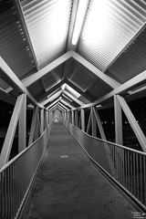 0D6A6001 - Walkway (Stephen Baldwin Photography) Tags: city urban blackandwhite monochrome architecture newcastle australia nsw streetscape