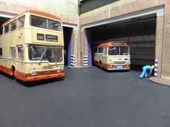 SYPTE Bus Depot & Garage. (ManOfYorkshire) Tags: bus scale buses model garage depot alexander metropolitan efe scania southyorkshire mcw diecast 176 oogauge britbus sypte ytype