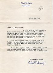 A letter of condolence (avatarsound) Tags: family minnesota vintage death james minneapolis letter jago condolence edsallbeery