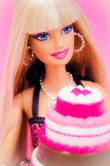 Happy Birthday, Barbie! (; @UnicornLolita) Tags: birthday pink cake doll barbie bolo boneca aniversário