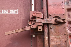 IMG__Rusty door handle (sdttds) Tags: railroad train rust rail boxcar davis pictureoftheday 51of366 davisfoodcoop 366in2016 feb202016