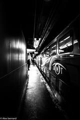 Au bout du tunnel (alex.bernard) Tags: blackandwhite bw canada train canon darkness montréal gare noiretblanc tunnel québec trainstation tunel tamron obscurité tamron2470 montrealcentralstation canon5diii garecentraledemontréal