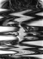 Scan 51: Found in Transmission (A Durst Photo) Tags: portrait people selfportrait eye art face hair scanner bodypart typeofphotography alternativrprocess