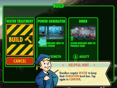 Fallout Shelter Building: screenshots, UI