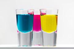 Magic potions (ivan.centes) Tags: blue light color glass colors yellow glasses purple experiment liquids soaps