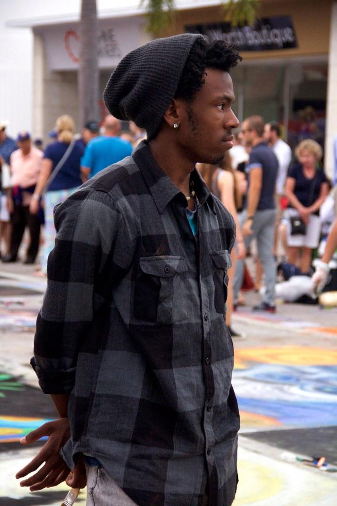 Black artist at event (LarryJay99 ) Tags: street city people urban hairy  streetart