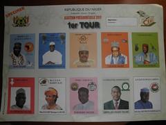 Bulletin de vote Niger (lections Qubec) Tags: niger de cte international vote bulletin lections ivoire hati centrafrique