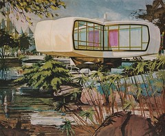 Vintage Monsanto Ad - Disneyland House of the Future (hmdavid) Tags: house art architecture illustration vintage disneyland ad advertisement future 1960s tomorrowland rendering midcentury monsanto houseofthefuture