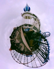 Little Planet : Blackpool (David Morton) Tags: 360 infusion rollercoaster bigone blackpool bigdipper littleplanet ricohthetas