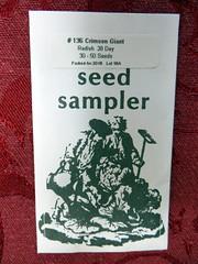 Crimson Giant Radish Seeds (genesee_metcalfs) Tags: garden vegetable seeds radish