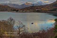 Shieldaig Daybreak (Shuggie!!) Tags: trees houses winter snow mountains sunrise landscape boats dawn scotland morninglight highlands williams shoreline villages hills karl hdr torridon westerross jetties zenfolio karlwilliams
