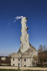 Die Heitzung vom Goetheanum (Basel101) Tags: schweiz basel architektur feuer wandern arlesheim jugendstil baselland goetheanum dornach heitzung