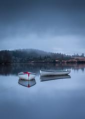 Bide (rgcxyz35) Tags: water reflections boats lochrusky lochs scotland trossachs clouds