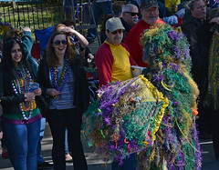 Always Amazing (BKHagar *Kim*) Tags: people green gold beads moss colorful purple neworleans crowd parade nola mardigras kreweoftucks bkhagar mossigrasman mardigrassaturday