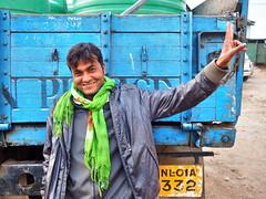 Kohima - Man (sharko333) Tags: voyage street travel man scarf truck asia asien olympus asie indien reise kohima nagaland em1