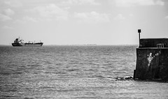sortie en mer (ju.labs) Tags: sea blackandwhite mer black monochrome canon grey gris boat noir noiretblanc map nb 17 bateau blanc charentes charentemaritime 17110 saintgeorgesdedidonne canon700d