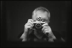 TP at 32 ASA (fawcetownsley) Tags: blackandwhite bw selfportrait film diy kodak voigtlander fsu rangefinder developer f2 jupiter rodinal russian bessal selfie techpan jupiter8 fixer v500 technicalpan 15min turretfinder 32asa 1to300