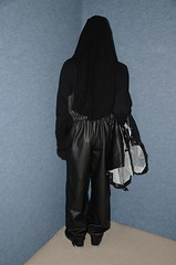 Black Rainwear (Buses,Trains and Fetish) Tags: black girl rain warm hijab sweat niqab rainwear pvc slave burka chador
