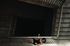 stills from imaginary movies.05 (thewhitestdogalive) Tags: shadow portrait black blur sexy girl beautiful beauty stairs project dark movie nude spiral fun model glamour bokeh fineart sensual abandon nudity stills outfocused riccardobandieraphotography riccardobandieracom