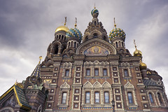 Church of the Savior on Spilled Blood - St Petersburg, Russia (phlorgan) Tags: travel building church saint st architecture clouds stpetersburg religious outdoors blood asia europe cathedral russia petersburg holy sacred alexander spilled emperor savior alexanderii