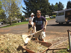 Outgrowing Hunger Community Garden_Shoveling 1