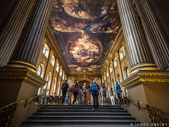 Entering Painted Hall (James Neeley) Tags: london greenwich paintedhall jamesneeley