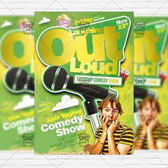 Comedy Show  Premium Flyer Template + Facebook Cover (ExclusiveFlyer) Tags: show poster typography concert flyer funny advertisement entertainment karaoke actor entertainer psd performer template openmic emcee talentshow familyevent standupcomedy comedynight onesheet talentsearch speakingengagement streetpromotion artistshowcase exclusiveflyer nightofcomedy