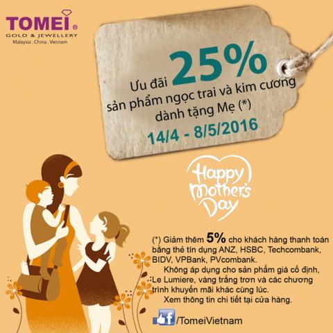 Giảm 25% sản phẩm Ngọc trai & Kim cương