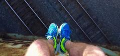 All Apologies (SaltyDogPhoto) Tags: bridge feet me myself shoes legs pov traintracks tracks samsung overpass sneakers lookingdown overlook overlooking samsungs6 saltydogphoto