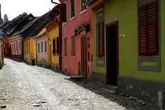 Sighisoara, Romania (PM Kelly) Tags: street travel color colour tourism town tour tourist cobblestone romania sighisoara transylvania