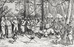 """""""Baby Rhinoceros Showing Fight in Camp.""""  From """"In Darkest Africa"""" by Henry M. Stanley. NY: Scribner's, 1890. (lhboudreau) Tags: africa expedition illustration forest children book exploring explorer illustrations books ostrich adventure jungle stanley adventures explorers rhinoceros 1890 bookart henrystanley africans hardcover natives babyrhino firstedition vintagebook expeditions junglecamp antiquebooks antiquebook vintagebooks africancontinent scribners classicbook hardcovers classicbooks babyrhinoceros hardcoverbooks blackafrican darkcontinent hardcoverbook charlesscribnerssons thedarkcontinent charlesscribners blackafricans indarkestafrica henrymstanley africanexpedition fightincamp showingfightincamp africanexpeditions"""
