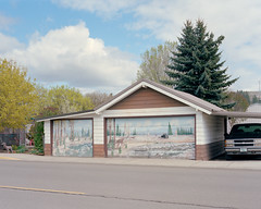 (lucas.deshazer) Tags: oregon mural garage 4x5 elgin chamonix largeformat kodakportra400