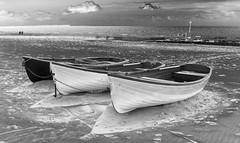 Bournemouth Beach (Julian Chilvers) Tags: sea blackandwhite beach monochrome boat sand dorset groyne bournemouth