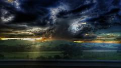 turbulence (Rodrigo Alceu Dispor) Tags: road light sunset shadow sky cloud tree fx turbulence