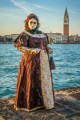 Model at Sunset (Kayla Stevenson) Tags: venice costume model piazza sangiorgiomaggiore perrinelohez