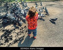 Photo accepted by Stockimo (vanya.bovajo) Tags: park urban baby playing bird girl childhood birds square kid toddler child looking pigeon dove pigeons exploring fascination doves caucasian iphone fascinated iphonegraphy stockimo