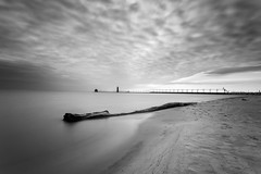 black and white (randyr photography) Tags: white haven black pier big long exposure grand lee stopper grandhaven puremichigan