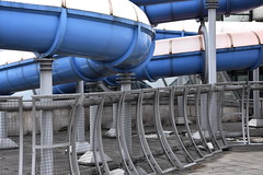 flume and friends (Harry Halibut) Tags: pink blue sports south sheffield yorkshire centre images fencing panels forge curved internation ponds allrightsreserved flumes linescurves anglesanglesangles sheffieldbuildings colourbysoftwarelaziness imagesofsheffield sheffieldarchitecture 2016andrewpettigrew sheff1604030235