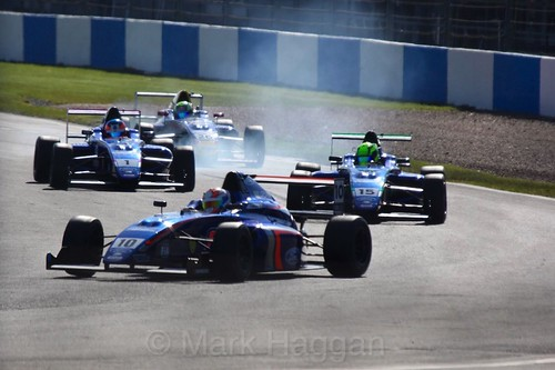 Petru Florescu in British Formula Four during the BTCC Donington Weekend, April 2016