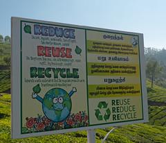 Reduce, Reuse, Recycle (Jackie & Dennis) Tags: recycle teaplantation munnar reuse reduce reducereuserecycle rwh ramblersworldwideholidays