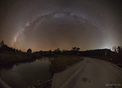 Milky Way over South Llano River (Sergio Garcia Rill) Tags: panorama usa water night river stars star us texas nightscape unitedstates pano panoramic junction astrophotography nightsky milkyway 2016 texasstatepark starrynights tpwd southllanoriver