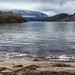Beach by fjord